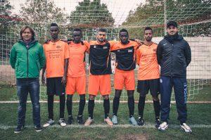 Abdirahman, Ahmed Sabara, Omar Hussin, Al Nemr Samba, Pamo Du Banna, Hassan. Nicht auf dem Bild: Abdi, Ibrahim Ali, Farhan